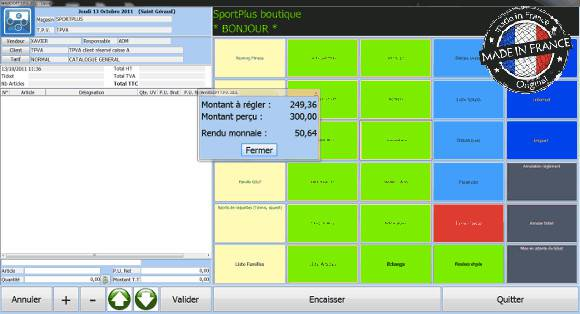 Terminal point de vente, logiciel de caisse, Wavesoft