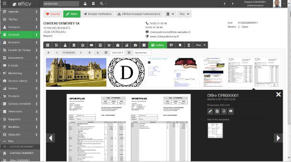 GED, Gestion électronique des documents d'Efficy CRM