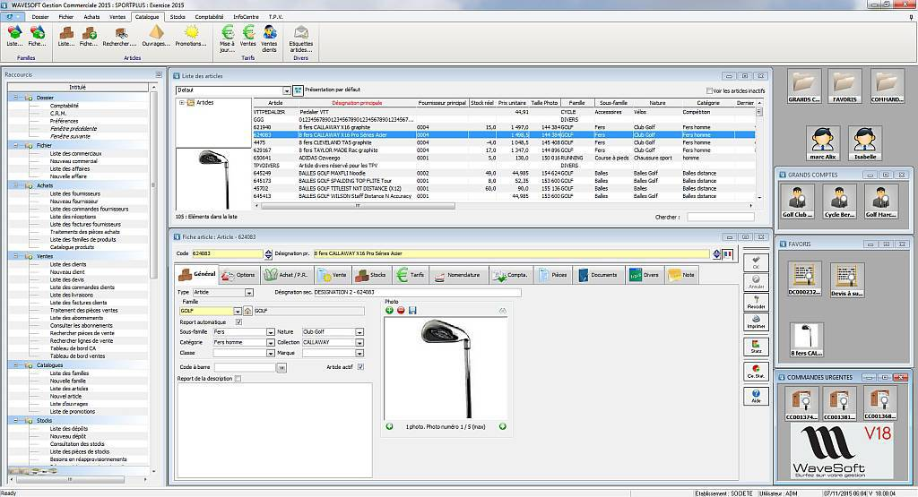 ERP Wavesoft V18, nouvelle interface