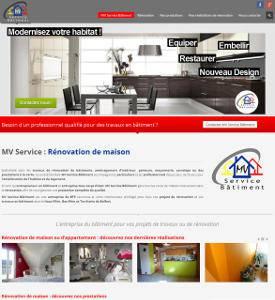Création d'un site web pour une entreprise du bâtiment dans le secteur de Mulhouse