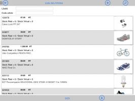 Liste du catalogue articles sur tablette