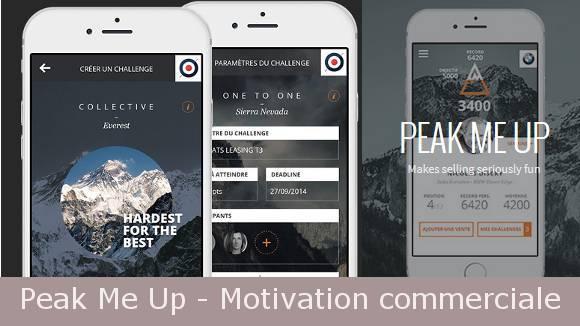 Peak Me Up de Royal App Force : Motivation commerciale, jeu d'entreprise