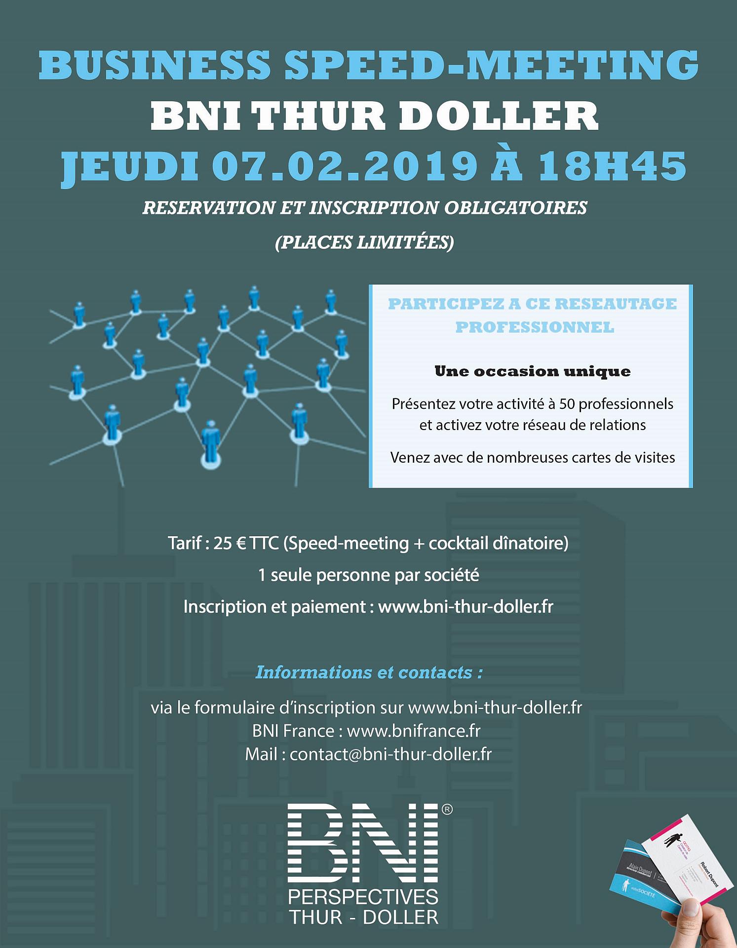 Speed-Meeting - BNI Thur Doller - Réseau d'affaires - 07/02/2019