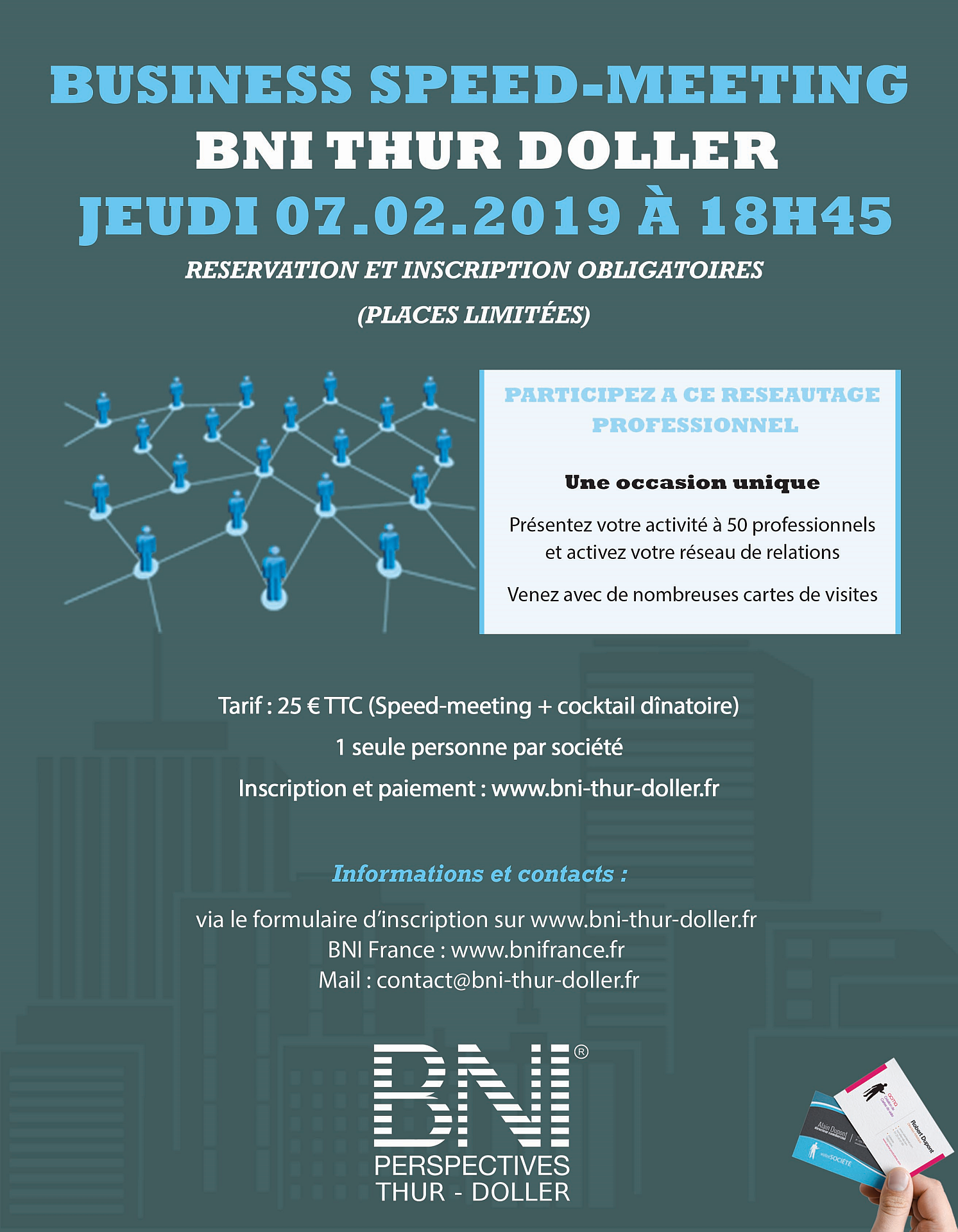 Speed-Meeting - BNI Thur Doller - Réseau d'affaires - 07/02/2019